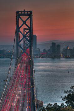 Bay Bridge Sunset, San Francisco, California (by Jon Bauer)