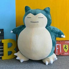 Jumbo SNORLAX Pokemon Center Kabigon Plush Toy Soft Doll 30cm Figure Gift – Pokemon Toys: Soft toy