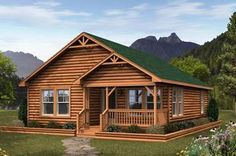 Log Modular Home Floor Plan Sq. Ft.: 918 Bedrooms: 2 Bathrooms: 1 Levels: 1