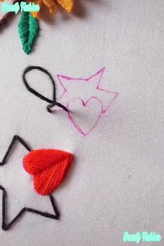 Hand Embroidery Videos, Embroidery Stitches Tutorial, Embroidery Flowers Pattern, Creative Embroidery, Simple Embroidery, Learn Embroidery, Hand Embroidery Patterns, Embroidery Kits, Knitting Stitches
