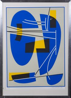Sam Vanni: Sommitelma, 1981, serigrafia, 60x45 cm, edition 21/80 - Hagelstam A130