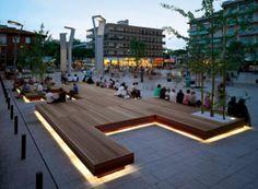 Ideas For Public Seating Street Furniture Outdoor Benches Landscape And Urbanism, Urban Landscape, Landscape Design, Landscape Sketch, Landscape Artwork, Contemporary Landscape, Landscape Illustration, Garden Design, Urban Furniture