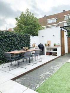 Home Garden Design, Yard Design, Home And Garden, Dream Garden, Garden Living, Kitchen Garden Window, Diy Outdoor Kitchen, Outdoor Decor, Outdoor Spaces