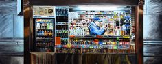 """NEW YORK 46"" By Socrates Rizquez 2017 - Enamels on melamine painting. Pintado con esmaltes sobre melamina. // Thanks to my eyes in NYC, Gary Burke."