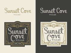 Sunset Cove Logo Concept by Jennifer Hood for Hoodzpah
