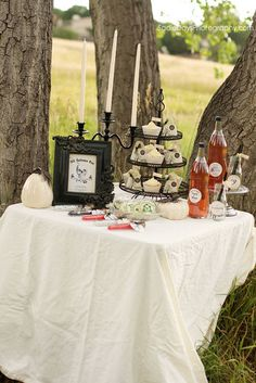 Lovely upscale decor for Halloween, wedding, birthday or shower