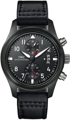 Anyone seeking a black wristwatch will likely gravitate to the IWC Top Gun Chronograph as it is a gorgeous timepiece. However, the Top Gun Chronograph Brm Watches, Breitling Watches, Cool Watches, Watches For Men, Wrist Watches, Black Watches, Unique Watches, Latest Watches, Top Gun