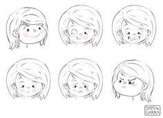 caras y gestos de Olivia by Samanta Garrido