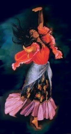 Entidades Ciganas da Umbanda (Clique Aqui) para entrar.: Mulher cigana Gypsy Girls, Gypsy Women, Gypsy Life, Gypsy Soul, Gypsy Culture, Dance Paintings, Historical Pictures, Gods And Goddesses, Illustrations Posters
