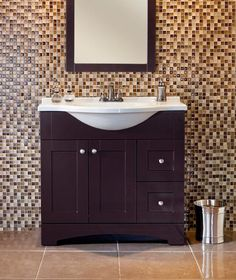 Del Mar 36in Vanity Combo in Espresso with a Euro-style top. We've seen this combo posted by some of you out there and we are flattered. This is just a great cabinet and top combo that can really add a touch of contemporary elegance to a bath design. You can also buy online @ The Home Depot here: http://www.homedepot.com/h_d1/N-5yc1v/R-100672704/h_d2/ProductDisplay?catalogId=10053=-1=St.%20Paul%20Del%20Mar=10051