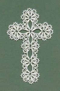 Tatted cross by Annie's Granny Design, design by Mary Konior