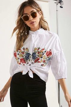 FOREVER 21+ Floral Embroidered Top #http://shopstyle.it/l/fpyC #bohamian#chic#oretty#stylish