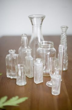 Give cheap thrifted or dollar store glass trinkets a milky antique finish. | 31 Cheap Tricks For Making Your Bathroom The Best Room In The House
