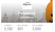 Our @Petsecure pet health insurance #Twitter account just reached 3,000 followers! Thanks for the support, everyone! To join the conversation about #pethealth, follow us at http://www.twitter.com/petsecure!
