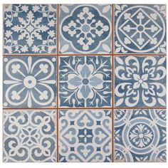 "Show details for 13""x13"" Faenza Azul FS-A Ceramic Floor/Wall Tile"