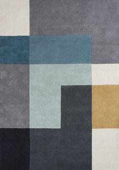 Dywan Tetris Aqua to dywan z nowej kolekcji Essentials 2014 duńskiej marki Linie Design. Ręcznie strzyżony dywan o ciekawym połączeniu kolorystycznym szarości, grafitu, ecru, niebieskiego i niebiesko-zielonego, ecru i odrobiny miodowego. Dywany tetris to dywany we wzory geometryczne. Dywan wykonany jest w 100% z wełny, gęsty, podklejony i podszyty bawełnianą tkaniną. Dywan Tetris dzięki zastosowaniu spokojnych i chłodnych kolorów doskonale komponuje się w nowoczesnych wnętrzach, doda im…