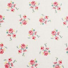 Taupe Mini Floral Design Oilcloth