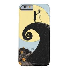 Jack and Sally Holding Hands Under the Moon Tim Burton Disney iPhone 6 Case