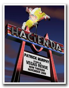 Personalized Hacienda Hotel Retro Vegas Print by FantaSigns, $29.95 #neon #signs #retro #Art #Personalized