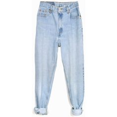 Vintage 90s Levi's 550 Jeans Relaxed Fit Denim Light Wash Jeans... (59 AUD) ❤ liked on Polyvore featuring jeans, relaxed fit jeans, vintage jeans, high rise jeans, levi jeans and relaxed jeans