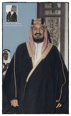 King Abdul Aziz Al-Saud . This image is in fact black and white and rare pictures Colors, it's clear in the image of my design King Salman Saudi Arabia, Saudi Arabia Prince, Ksa Saudi Arabia, National Day Saudi, Happy National Day, Saudi Arabia Photos, Saudi Princess, Arabic Calligraphy Tattoo, Saudi Arabia Culture