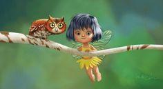 Fairy and Owl by Kei Acedera and Bobby Chiu    September 2006