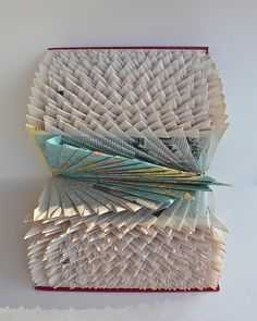 Folded World Atlas (Altered Books 2010) by robfos, via Flickr