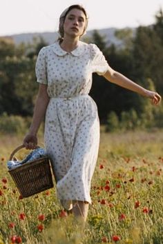 {The Well Digger's Daughter} I loved this very beautiful French film...mostly because it was set in the south of France before World War I. (Also, I'd love a closet full of simple, beautiful French country dresses like this!)