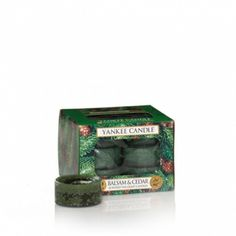 Balsam & Cedar: Yankee Candle Company Tea Light Candles: Balsam, aromatic cedar wood, and juniper berry blend together in a fresh forest scent.