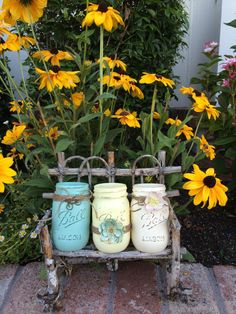 Hey, I found this really awesome Etsy listing at https://www.etsy.com/listing/200427771/pretty-pastels-painted-mason-jar-set-of