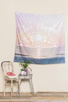 Live Happy Tapestry $38.00