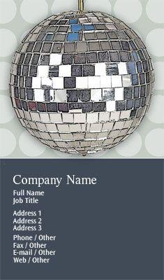 Disco Ball Business Card Template