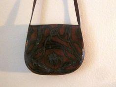 vintage crossbody leather saddle bag by mellowrabbit on Etsy, $28.00