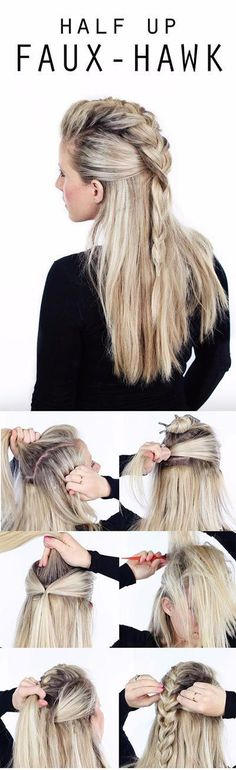 These Half Up hairstyle tutorials are great for that impeccable look. Also, they are easy to style and works for both, medium to long hair. #longhair