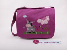 """Kindergartentaschen - Kindergartentasche """"Esel"""" - ein Designerstück von Taschenkuenstlerin bei DaWanda"""
