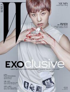 Xiumin - 160617 W Korea website update Credit: W Korea.