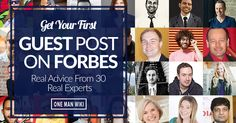Do you want to reach a brand new audience? Do you want to skyrocket your businesses growth? A guest post on Forbes could do this, learn how...