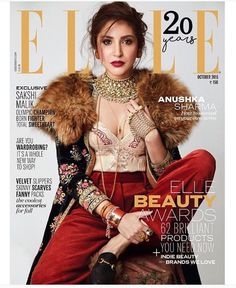 Flashy in Fur: Anushka Sharma poses in a Sabyasachi creation for the October cover of Elle | PINKVILLA