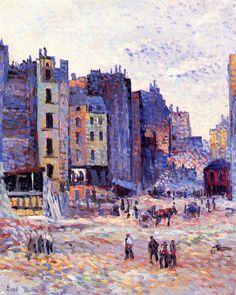 The Athenaeum - Construction of rue Reaumur (Maximilien Luce - )