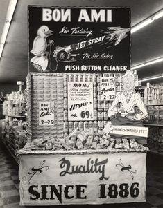 Bon Ami Jet Spray Display, 1950's [link]