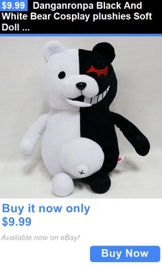 Dolls And Bears: Danganronpa Black And White Bear Cosplay Plushies Soft Doll Baby Childrens Gift BUY IT NOW ONLY: $9.99