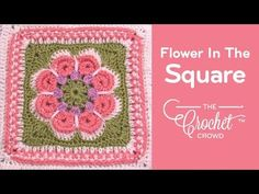 Crochet Flower in the Granny Square Inspired by texture and simplicity. We transition from a round flower motif to a