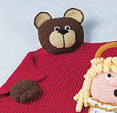 Teddy Bear Blanket Buddy by Cynthia (Cindy) Harris