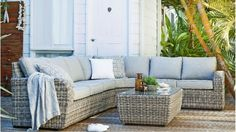 Outdoor lounge and table - Harvey Norman, Seaford Modular