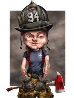 Female Firefighter by Paul Combs Firefighter Recruitment, Firefighter Paramedic, Female Firefighter, Volunteer Firefighter, Firefighter Training, Wildland Fire, Sheep Farm, Fire Art, Buy Prints