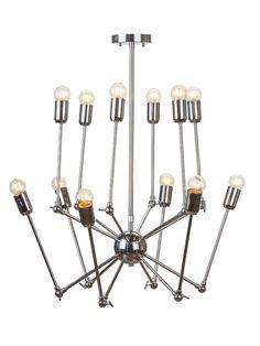 Shai Pendant Lamp in Chrome by Nuevo Living