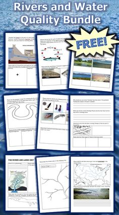This is the FREE 15 Page bundled homework package, unit notes, answer keys, and many PowerPoint previews that chronologically follows my four part 2150+ slide Rivers, Lakes, and Water Quality Unit that I offer on TpT. The PowerPoint roadmap is full of great class activities, important notes, review games, videos, and much more. -Enjoy!