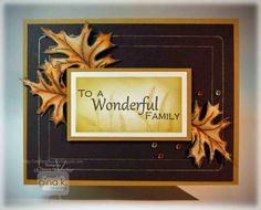 Crafting The Web: Wonderful Family Gold Pen Frame Card Video