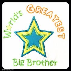Machine Embroidery for a New Big Sister or Big Brother - Embroidery It