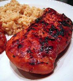 Grilled Coca Cola Chicken: this would be fun to have on the 4th of July